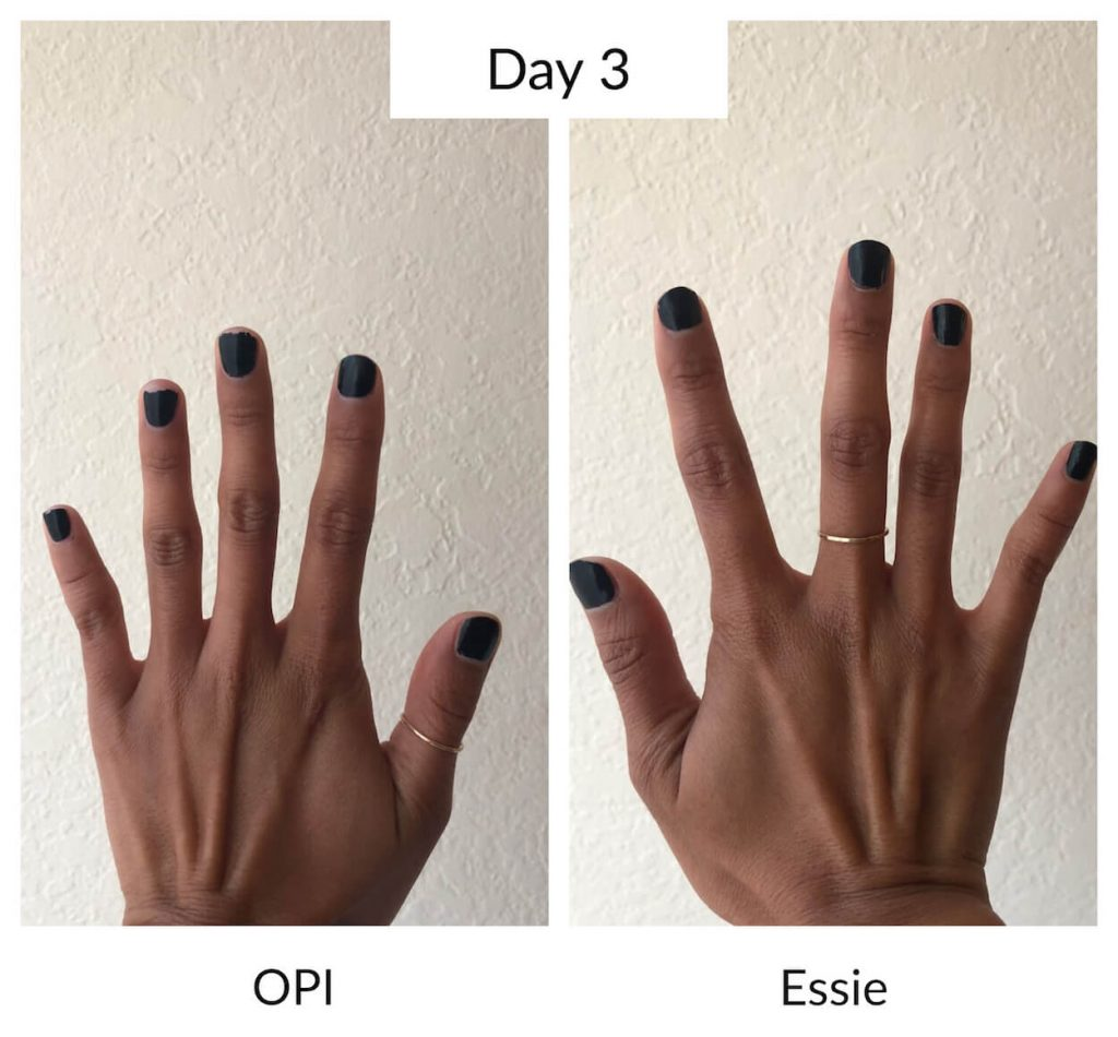 Essie vs OPI Day 3 Longevity Test