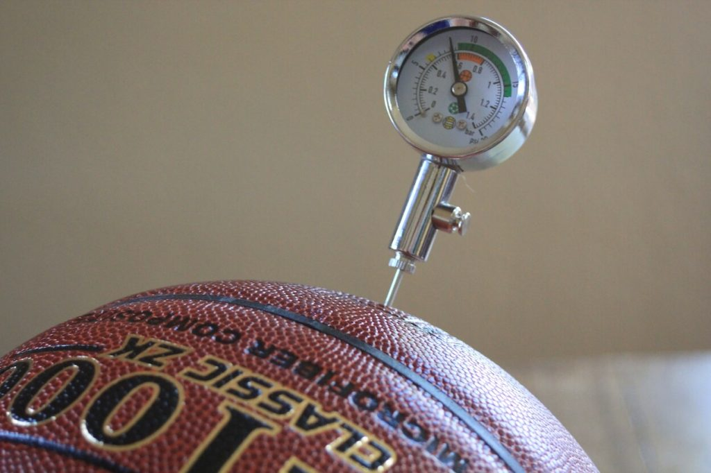 Basketball with Pressure Gauge