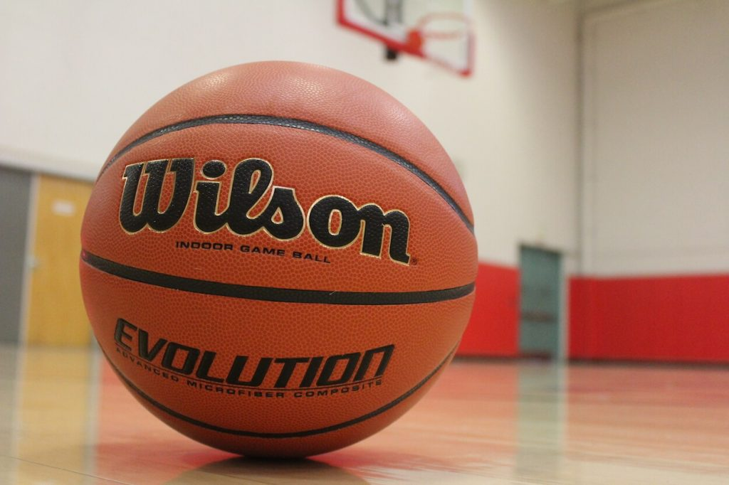 Wilson Evolution Basketball in indoor Gym - best indoor basketball