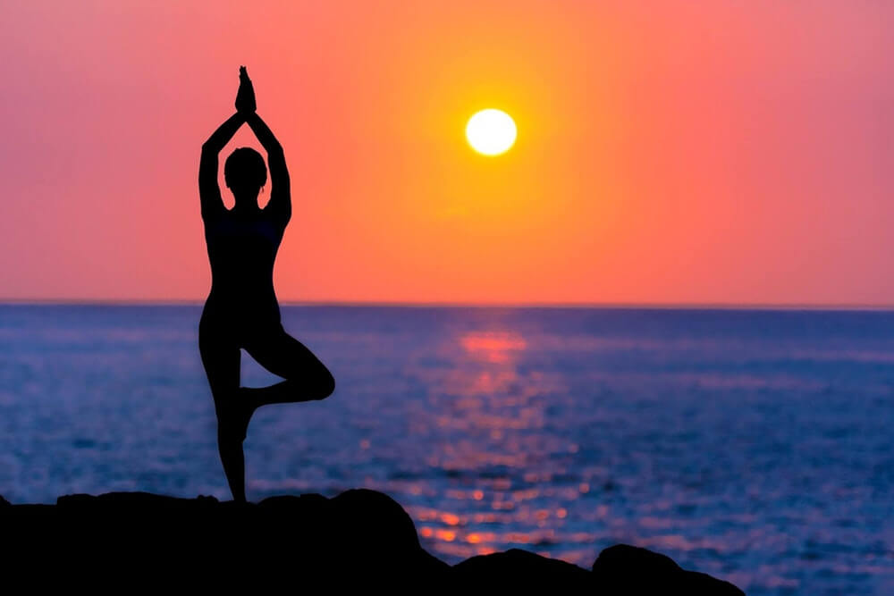 Sunset Yoga destress
