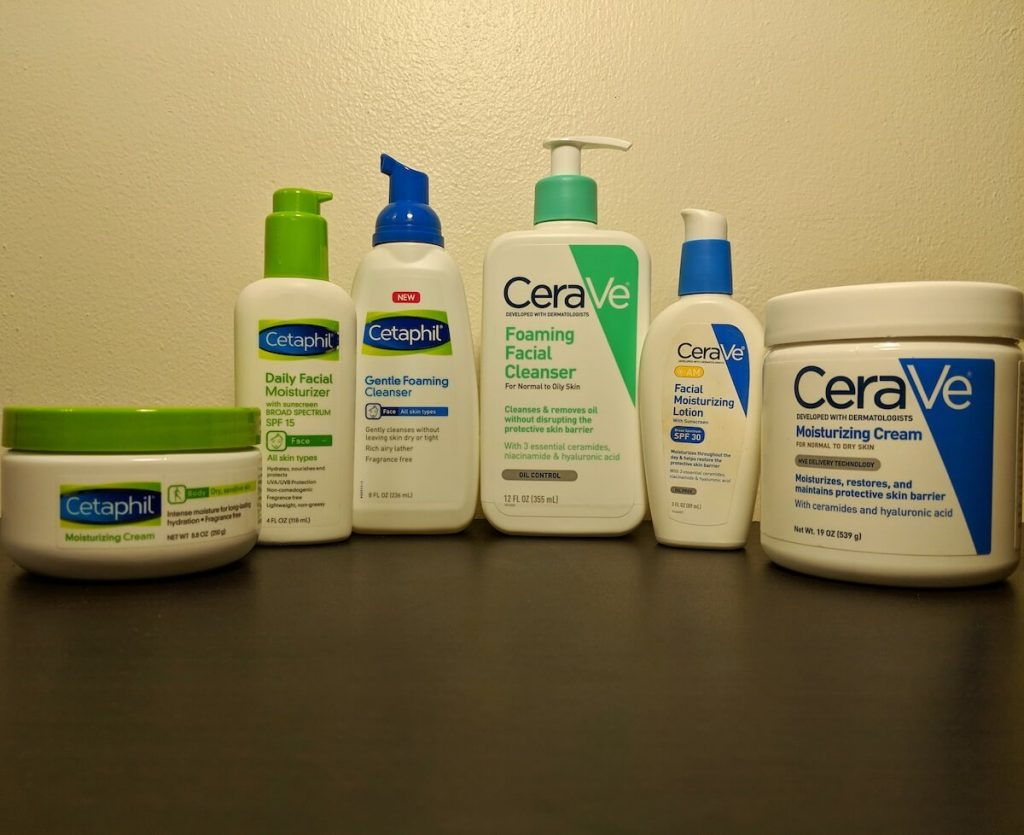 CeraVe and Cetaphil Products
