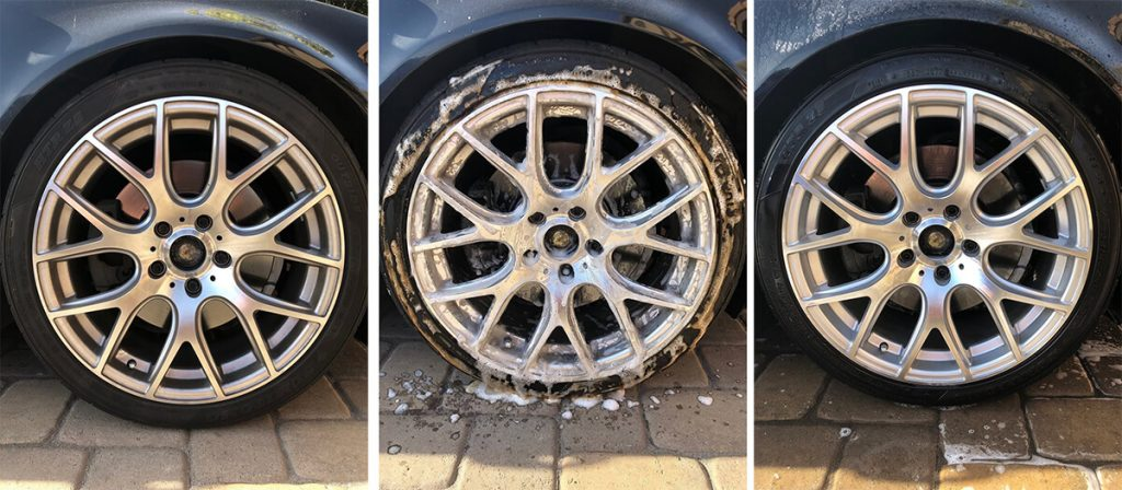 BMW Mothers Wheel Cleaner Test, Before, During, After