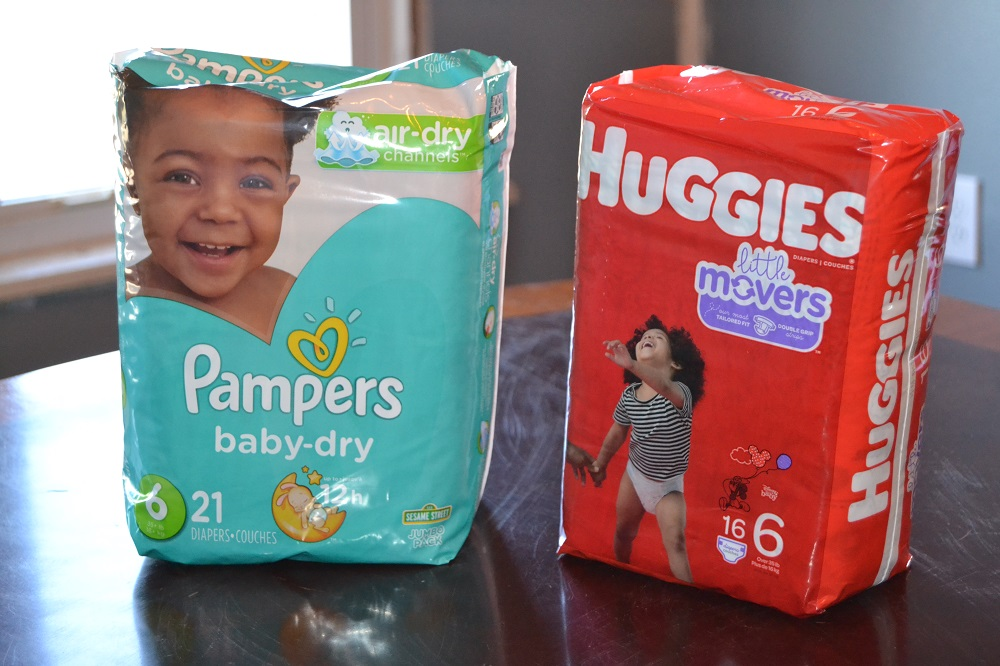 Huggies little movers vs Pampers baby dry