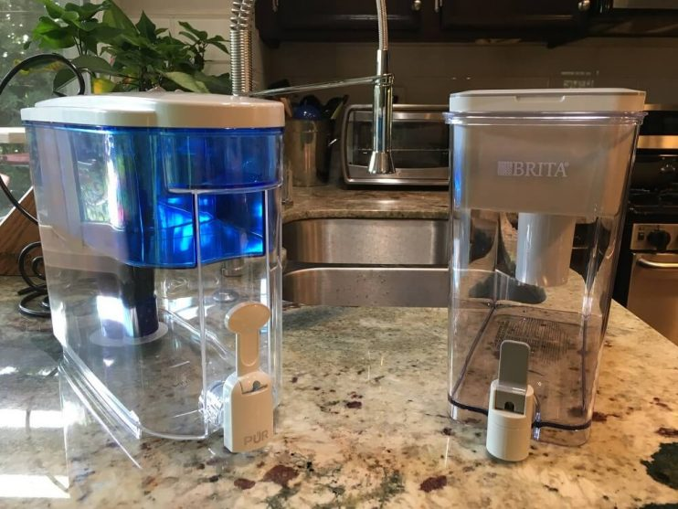 Brita vs PUR water filter dispenser