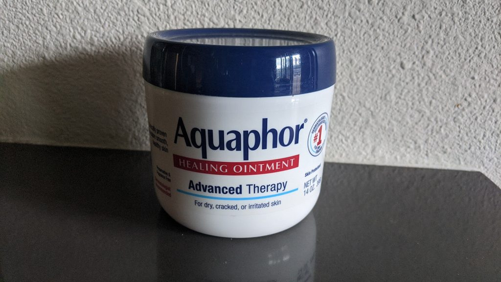 Aquaphor, the best healing ointment.