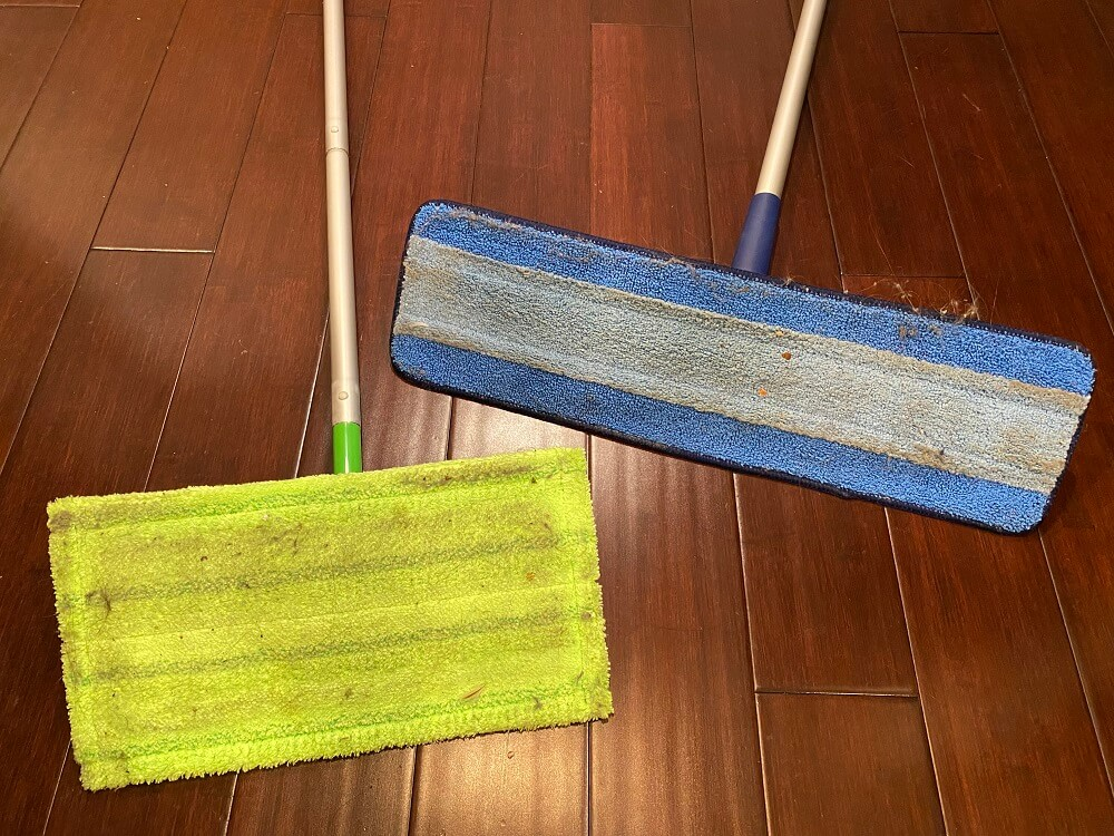 Bona vs Swiffer microfiber pads dirty