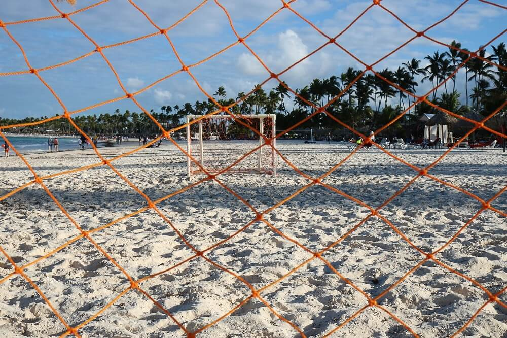 beach soccer field